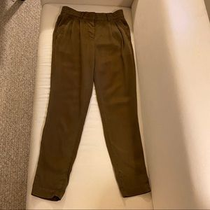 Wilfred brown lyocell straight trousers
